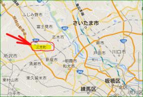 三芳町の位置