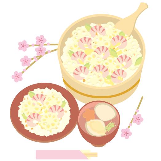 ひな祭りにちらし寿司を作る由来は?