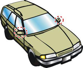 ミラーレス車は高齢者には危険!遠近老眼鏡をかけましょう