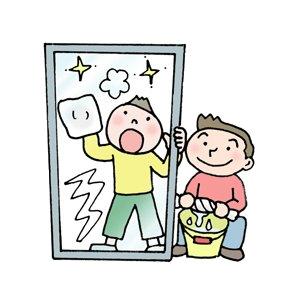 窓拭きに新聞紙を使うやり方なら、お子様もお手伝いできますよ。